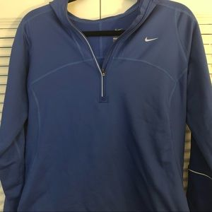 Nike blue quarter zip